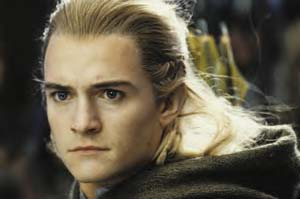 The lovely Orlando Bloom as Legolas