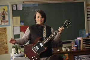 Jack Black holds a class in the School of Rock. Lesson one: rolling your eyes in a manic way