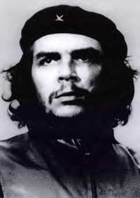 The real Che Guevara. Actually looks a bit like George Clooney in some photos...