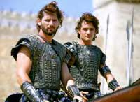 Eric Bana as Hector and Orlando Bloom as 'oiled stick' Paris