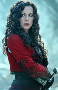 Kate Beckinsale as Anna Valerious in Van Helsing. Still not concussed, then.