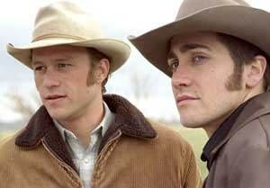 Heath Ledger as Ennis and Jake Gyllenhaal as Jack in Brokeback Mountain