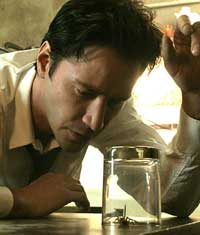 Keanu Reeves as exorcist John Constantine