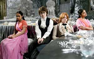 The Hogmanay ball is not much fun for Harry (Daniel Radcliffe) and Ron (Rupert Grint)