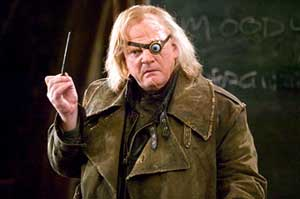 Brendan Gleeson chews the scenery as Mad Eye Moody in Harry Potter and the Goblet of Fire