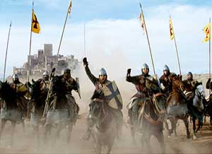 Charge! Orlando Bloom takes to the saddle in Kingdom of Heaven