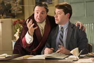 Nathan Lane as Max Bialystock and Matthew Broderick as Leo Bloom in The Producers