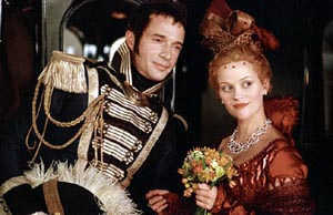 James Purefoy as Captain Rawdon Crawley and Reese Witherspoon as Becky Sharp in Vanity Fair