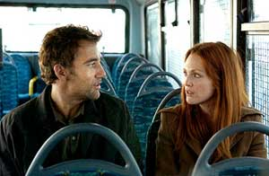 Clive Owen and Julianne Moore star in the dystopian film Children of Men