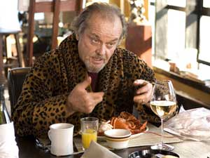 Jack Nicholson wearing that dressing gown as Frank Costello in Martin Scorsese's The Departed