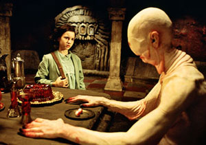 The terrifying Pale Man (Doug Jones again) in Pan's Labyrinth