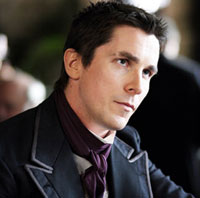 Christian Bale as magician Alfred Borden in The Prestige