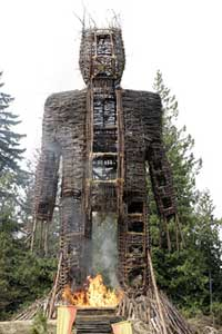Nicolas Cage burns in The Wicker Man 2006