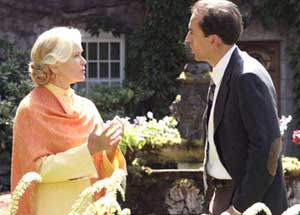 Ellen Burstyn as Sister Summersisle and Nicolas Cage as Edward Malus in the remake of The Wicker Man