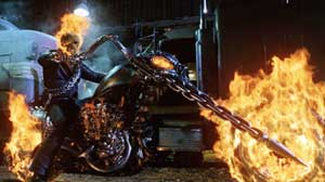 Nicolas Cage as the Ghost Rider