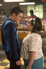 Zac Efron and Nikki Blonsky in Hairspray