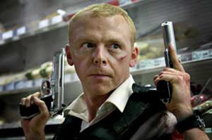 Simon Pegg as Sergeant Nicholas Angel in Hot Fuzz