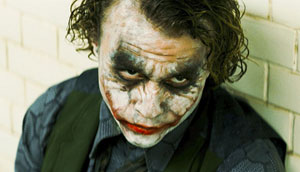 Why so serious? Heath Ledger as the Joker in The Dark Knight