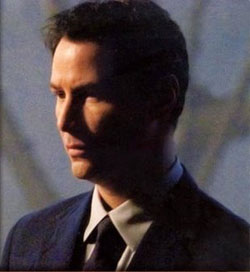 Keanu Reeves as Klaatu in the 2008 remake of The Day the Earth Stood Still