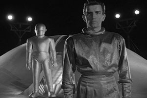 Michael Rennie as Klaatu in the original version of The Day the Earth Stood Still