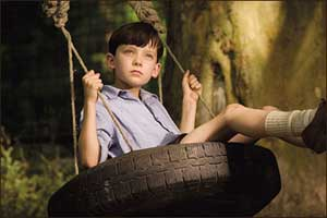 Asa Butterfield as Bruno in The Boy in the Striped Pyjamas