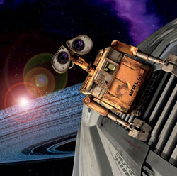 WALL-E goes on a space adventure