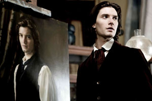 Ben Barnes as Dorian Gray with his portrait