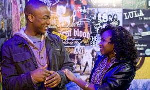 Collins Pennie as Malik and Naturi Naughton as Denise in Fame
