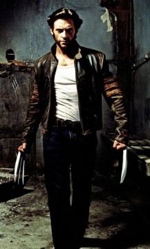The lovely Hugh Jackmans as Wolverine