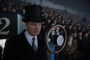 Colin Firth as Bertie in The King's Speech