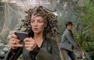 Uma Thurman hams it up as Medusa in Percy Jackson and the Lightning Thief