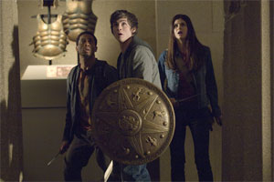 Logan Lerman, Brandon T Jackson and Alexandra Daddario in Percy Jackson and the Lightning Thief