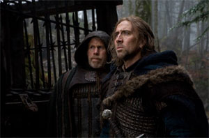 Ron Perlman and Nicolas Cage in Season of the Witch