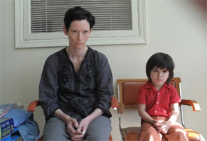 Tilda Swinton as Eva and Jasper Newell in We Need To Talk About Kevin