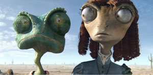 Rango with lizard love interest Beans (Isla Fisher)