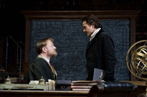 Jared Harris as Professor Moriarty and Robert Downey Jr as Sherlock Holmes in A Game of Shadows