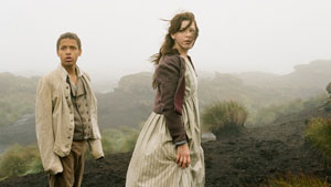 Solomon Glave and Shannon Beer as young Heathcliff and Cathy in Andrea Arnold's Wuthering Heights