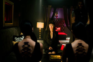 Directors Jen and Sylvia Soska make an ill-advised cameo in American Mary