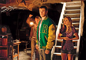 'We should all split up!' Chris Hemsworth leads the stereotypical teens in The Cabin in the Woods