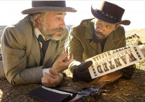 Christoph Waltz as Schulz and Jamie Foxx as Django in Quentin Tarantino's Django Unchained