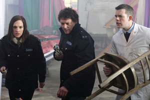 Ruth Bradley, Richard Coyle and Russel Tovey in monster horror comedy Grabbers