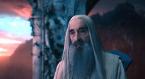 Christopher Lee as Saruman in The Hobbit: An Unexpected Journey