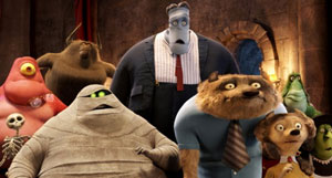 Guests at the Hotel Transylvania, including CeeLo Green's Mummy and Steve Buscemi's Wereworld
