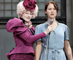 Elizabeth Banks and Jennifer Lawrence in The Hunger Games