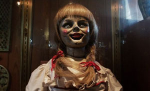 Annabelle the doll. Face it, she's scary.