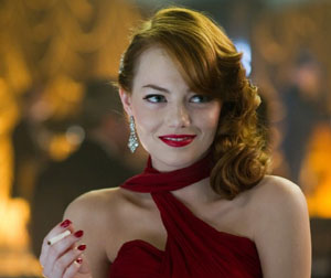Emma Stone as glamorous Grace in Gangster Squad