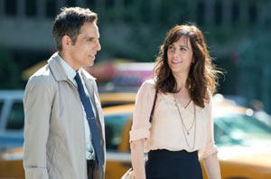 Ben Stiller as Walter Mitty and Kristen Wiig as Cheryl in The Secret Life of Walter Mitty