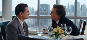 Leonardo DiCaprio and Matthew McConaughey in Martin Scorses's The Wolf of Wall Street