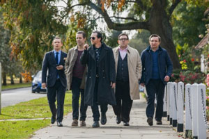 Martin Freeman, Paddy Considine, Simon Pegg, Nick Frost and Eddie Marsan in The World's End