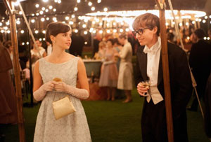 Felicity Jones and Eddie Redmayne as Jane and Stephen Hawking in The Theory of Everything